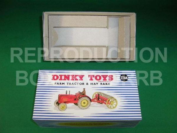 Dinky #310 (27ak) Farm Tractor & Hay Rake - Reproduction Box